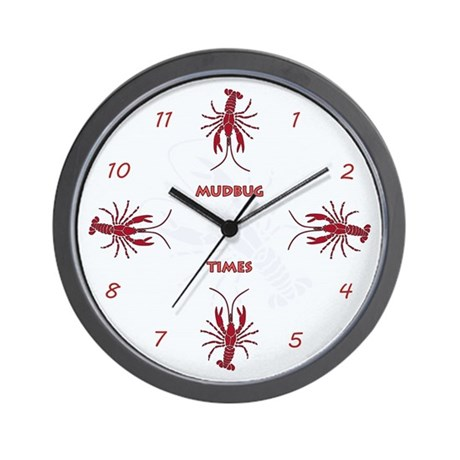 Mudbug Times Wall Clock