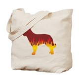 Mudi Flames Tote Bag