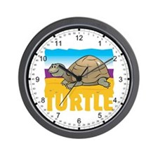 Kid Friendly Turtle Wall Clock