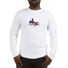 Cute Quarter horse racing Long Sleeve T-Shirt