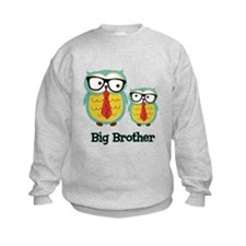 Nerdy Owl Big Brother Sweatshirt