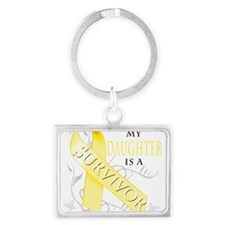 My Daughter is a Survivor (yellow) Keychains
