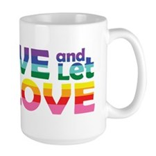 Live Let Love La Mugs
