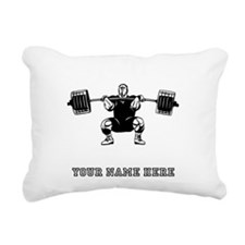 Custom Powerlifter Rectangular Canvas Pillow