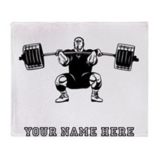 Custom Powerlifter Throw Blanket