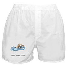 Custom Freestyle Swimmer Boxer Shorts