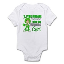 Lyme Disease MessedWithWrongGirl Infant Bodysuit