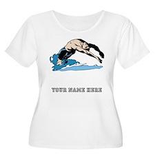 Custom Backstroke Dive Plus Size T-Shirt