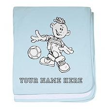 Custom Soccer Kid baby blanket