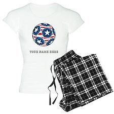 Custom Stars And Stripes Soccer Ball Pajamas