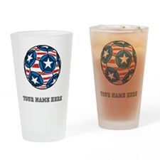 Custom Stars And Stripes Soccer Ball Drinking Glas