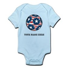 Custom Stars And Stripes Soccer Ball Body Suit