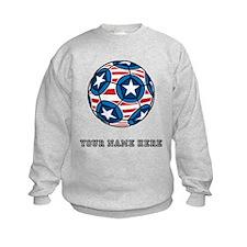 Custom Stars And Stripes Soccer Ball Sweatshirt