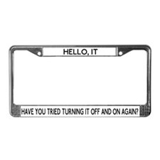It Crowd - Off And On License Plate Frame
