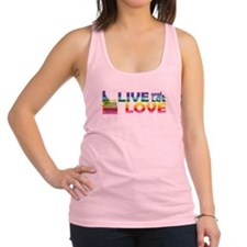 Live Let Love ID Racerback Tank Top