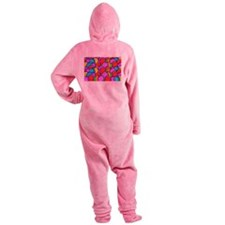 Colored Easter Eggs Footed Pajamas