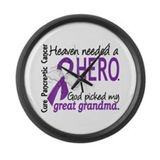 Pancreatic Cancer Heaven Needed H Large Wall Clock