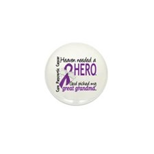 Pancreatic Cancer Heaven Ne Mini Button (100 pack)