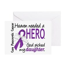 Pancreatic Cancer Heaven Needed Hero Greeting Card