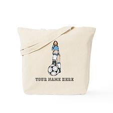 Custom Soccer Girl Tote Bag