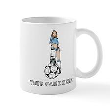 Custom Soccer Girl Mugs