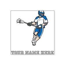Custom Lacrosse Player Sticker