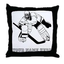 Custom Hockey Goalie Throw Pillow
