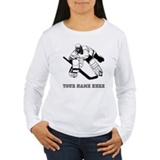 Custom Hockey Goalie Long Sleeve T-Shirt