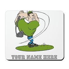 Custom Cartoon Golfer Mousepad