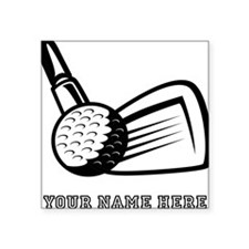 Custom Golf Ball And Club Sticker