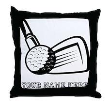 Custom Golf Ball And Club Throw Pillow