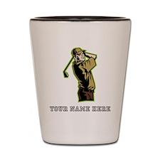 Custom Golfer Shot Glass