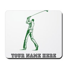 Custom Green Golfer Mousepad