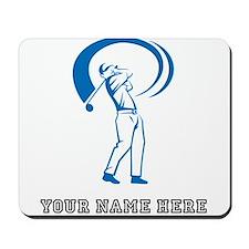 Custom Blue Golf Swing Mousepad