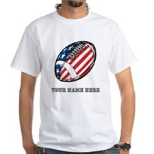 Custom American Flag Football T-Shirt