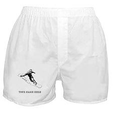 Custom Downhill Snowboarder Boxer Shorts