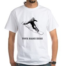 Custom Downhill Snowboarder T-Shirt