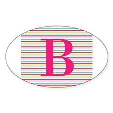 Personalizable Pink and Black Stripes Decal