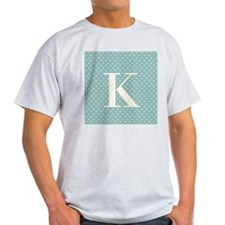 K Initial on Blue T-Shirt