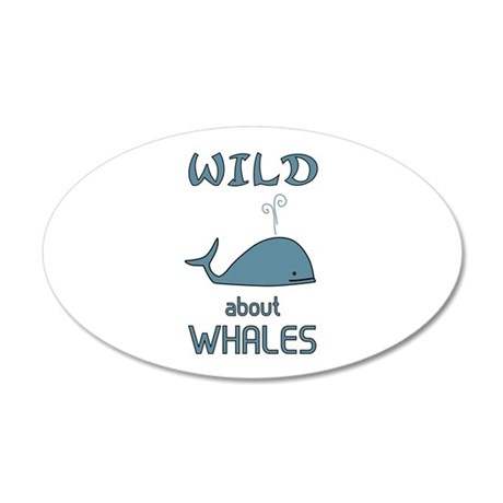 Wild About Whales 20x12 Oval Wall Decal