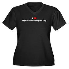 I Love Catahoula Leopard Dog Women's Plus Size V-N
