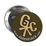 Official Godchecker promo button (peach)