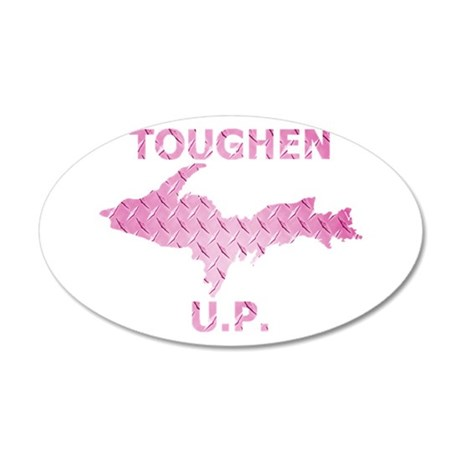 Toughen U.P. In Pink Diamond Plate Wall Decal