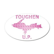 Toughen U.P. In Pink Diamond Plate Wall Decal