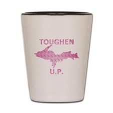 Toughen U.P. In Pink Diamond Plate Shot Glass