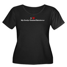 I Love Curly-Coated Retriever Women's Plus Size Sc