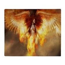 Beautiful Fire Angel Throw Blanket