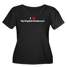I Love English Foxhound T