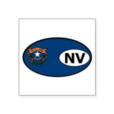 "Cute Nevada flag Square Sticker 3"" x 3"""