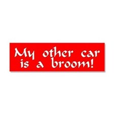 Funny Broom Car Magnet 10 x 3